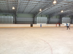Rink with ice